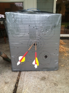 Finished DIY Inexpensive Archery Target