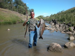 Here's a river Buffalo Carp...shore bowfishing!