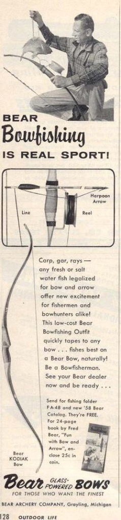 A Fred Bear Archery ad from 1957...