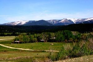 A Montana mountain range during a spring bear hunt
